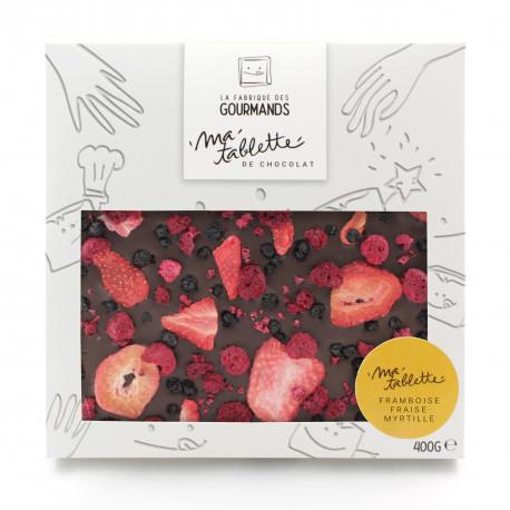 Tablette chocolat noir - Fruits rouges