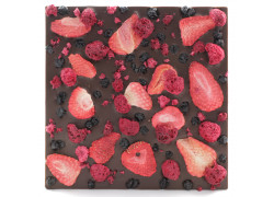 Tablette chocolat noir - Fruits rouges