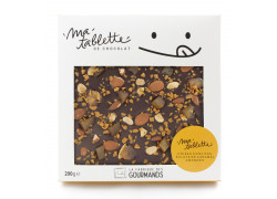 Tablette chocolat noir - Poires Amandine