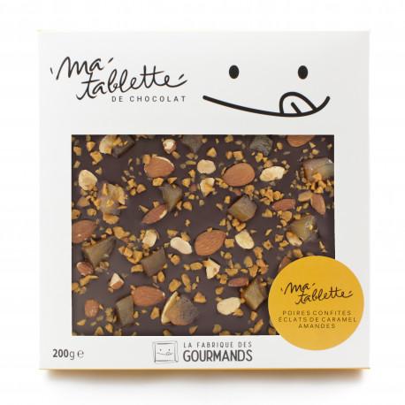 Tablette chocolat au lait - Poires Amandine