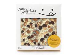 Tablette chocolat blanc - Amandes Raisins