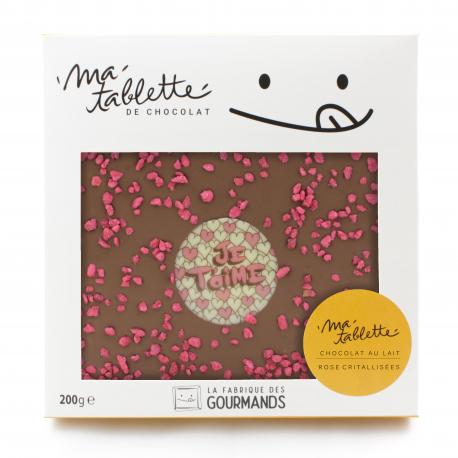 Tablette chocolat au lait - Rose Cristallisées