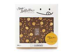 Tablette chocolat au lait - Caramel salé & Noisettes