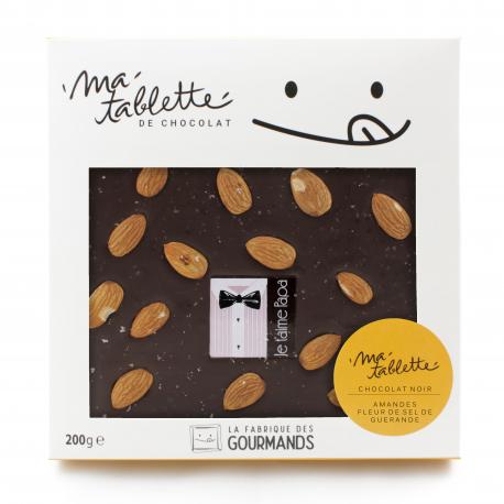 Tablette chocolat noir - Amandes et Fleur de sel