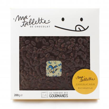 Tablette chocolat noir - Riz soufflé