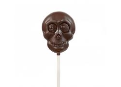 Sucette chocolat Halloween - Tête de mort 25g