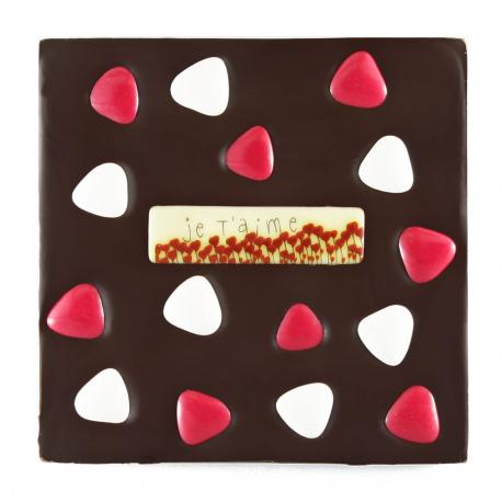 Tablette de chocolat Saint Valentin