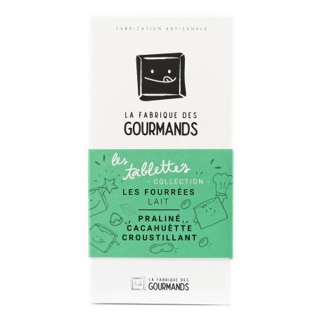 Tablette Fourrée - Chocolat au lait & Praliné cacahuète croustillant