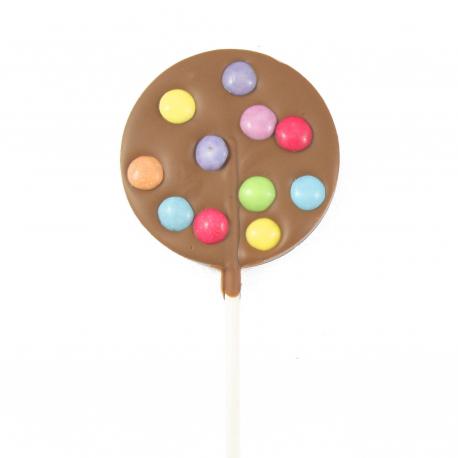 Sucette Smarties® Chocolat au Lait