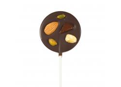 Sucette Mendiants Chocolat Noir